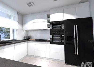 Projekt wnętrza Śląsk spokojny błękit kuchnia
