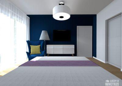 Projekt wnętrza Śląsk z umiarem sypialnia