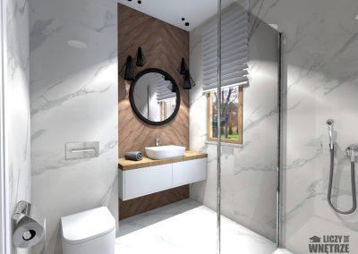 Projekt wnętrza Śląsk z umiarem łazienka
