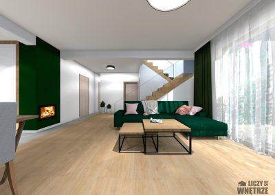 Projekt wnętrza Śląsk z umiarem salon