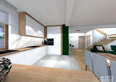 Projekt wnętrza Śląsk z umiarem kuchnia
